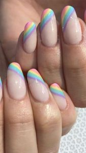 rainbow striped pastels