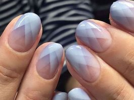 lavender geometric french tip