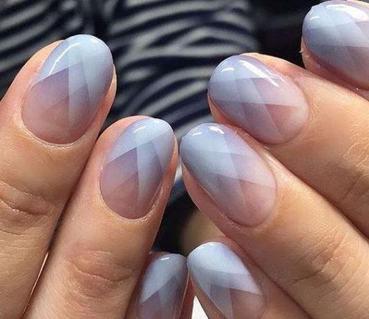 lavender geometric french tip
