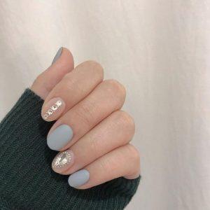 korea blue clear stones