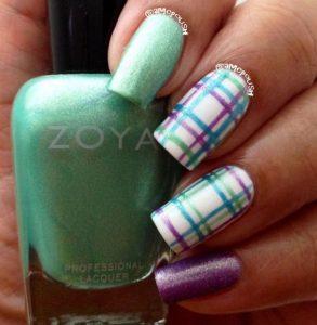 green purple plaid design