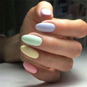2020 rainbow pastel almonds