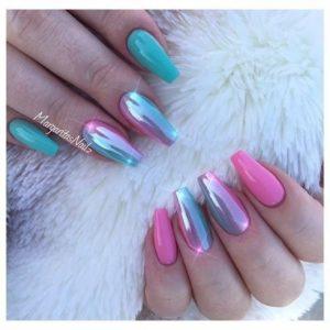 blue meets pink chrome