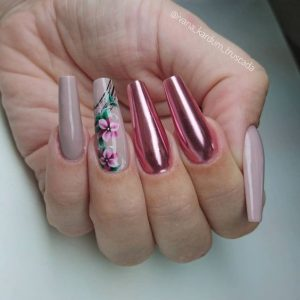 coffin flower pink chrome