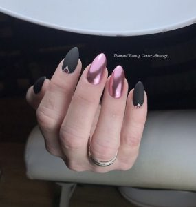matte black chrome pink combo