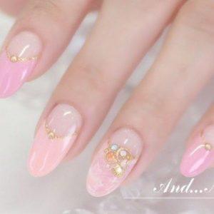 kawaii embellished pastel pink