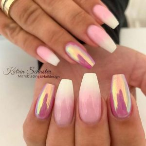 french ombre chrome pink