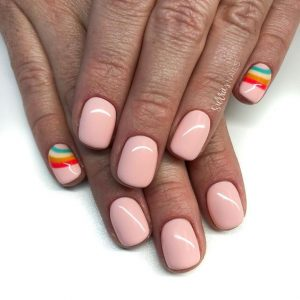 rainbow on pinky