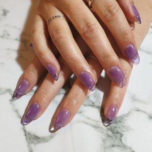 clear purple acrylics