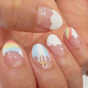 kawaii rainbow umbrella