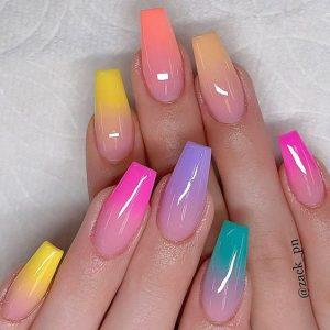 ombre fading rainbow