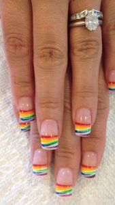 french tip rainbows