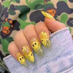 happy face jelly nail