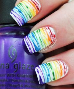 painted rainbow striping