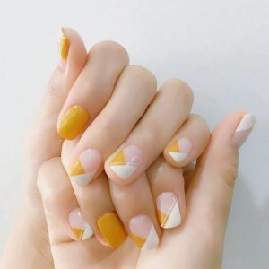korean white yellow geometry