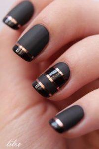 rose gold stripes matte black