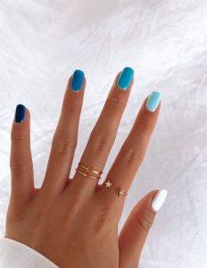 gel blue shades