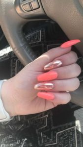 rose chrome and coral