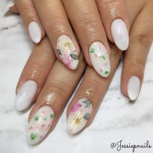 milky white flowers dried
