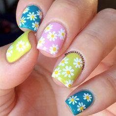 daisy easter nail