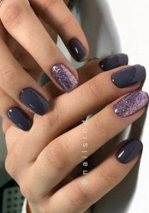gel dark purple glitz