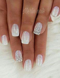 gel white shimmering