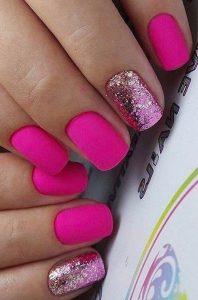 gel neon matte pink