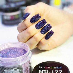 nugenesis dark purple glitter
