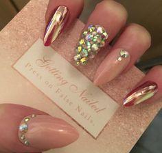 pink iridescent stones