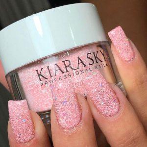 baby pink glitter dip kiara sky