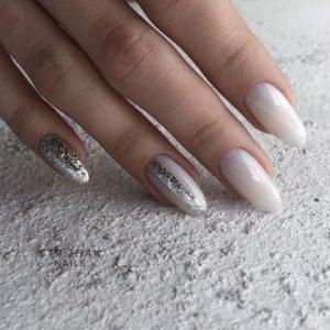 almond silver milk white