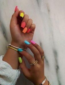 gel rainbow neon matte
