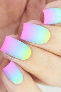 gel neon ombre