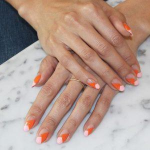 minimal orange pink clear