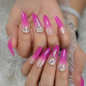 fiberglass neon pink ombre
