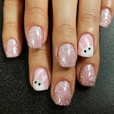 pastel pink easter bunny