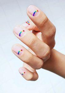 minimal reverse french rainbow