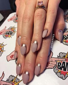 matte rose gold french tips