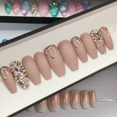 dripping rose gold chrome