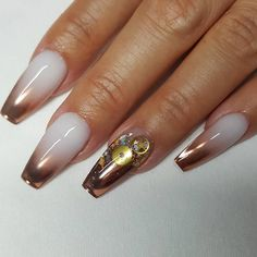 ombre rose gold ends