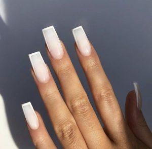 sharp edge milk white tip