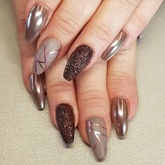rose gold stripes on taupe