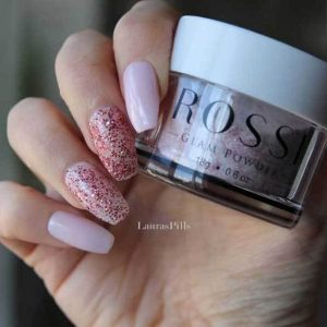 pink and glitter dip rossi