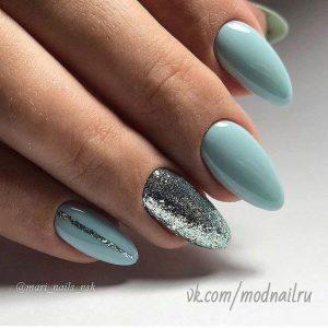 gel glitter turquoise