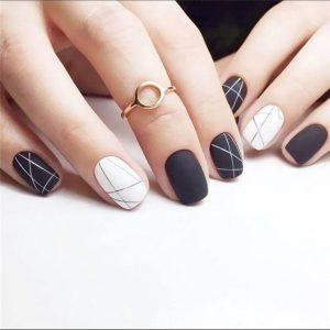 gel minimal design black white