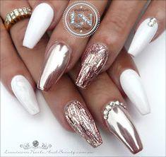 rose white glam chrome