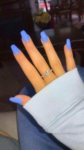 short coffin bright blue