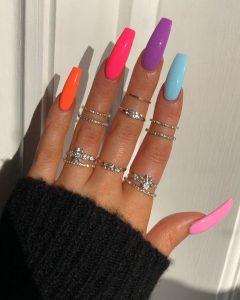 long bright colors