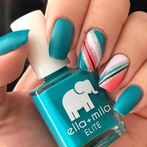 teal coral white design
