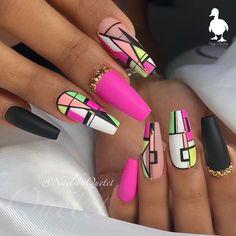 long pink geometric